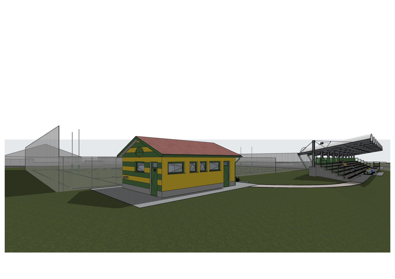 Il disegno della casetta per biglietteria e servizi igienici