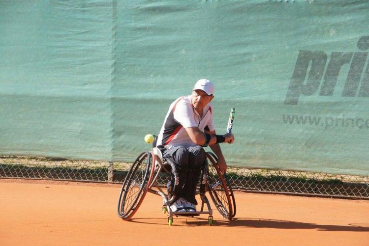 Il tennis in carrozzina a Biella