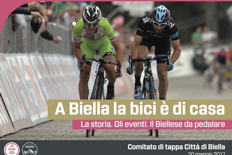 """La copertina della brochure """"A Biella la bici è di casa"""""""