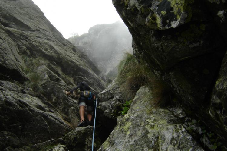 In arrampicata al Mucrone Climbing Park