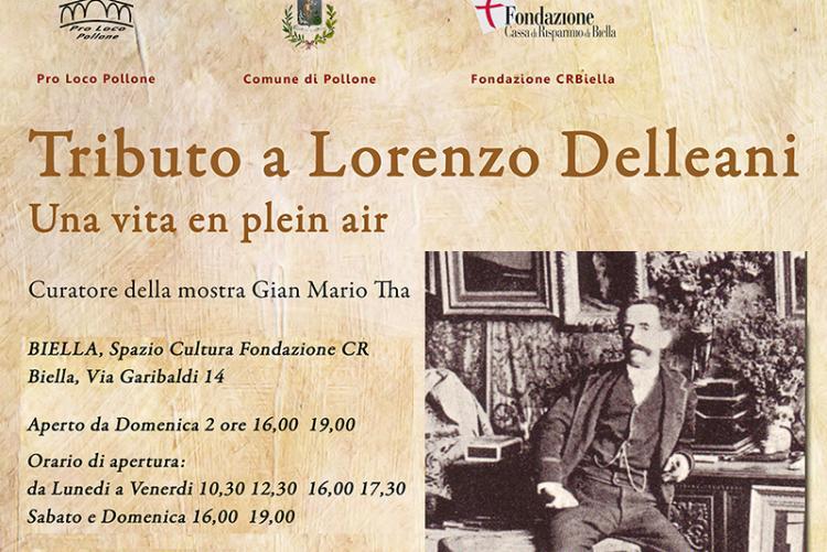 La locandina della mostra su Lorenzo Delleani