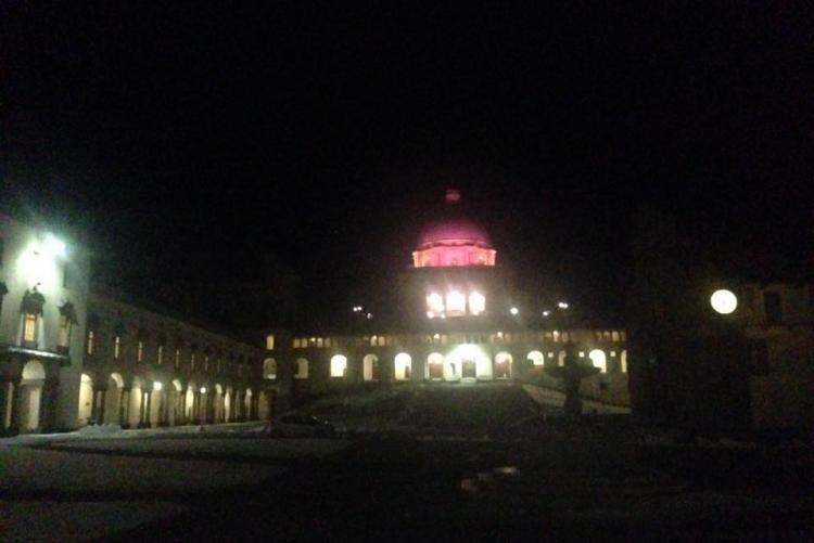La cupola rosa al santuario di Oropa