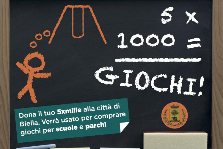 La grafica che sosterrà la campagna per il 5xmille ai bambini
