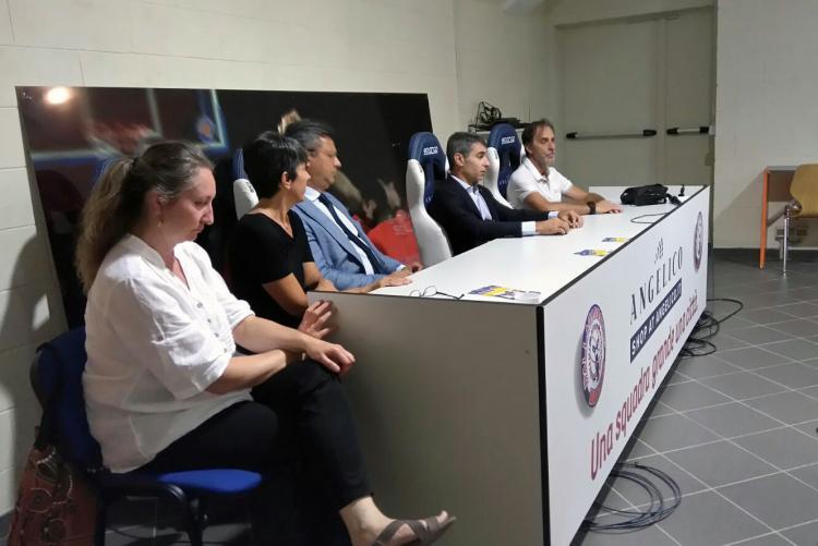 Da sinistra Valeria Varnero, Teresa Barresi, Marco Cavicchioli, Giovanni Maria Ferraris e Charlie Cremonte