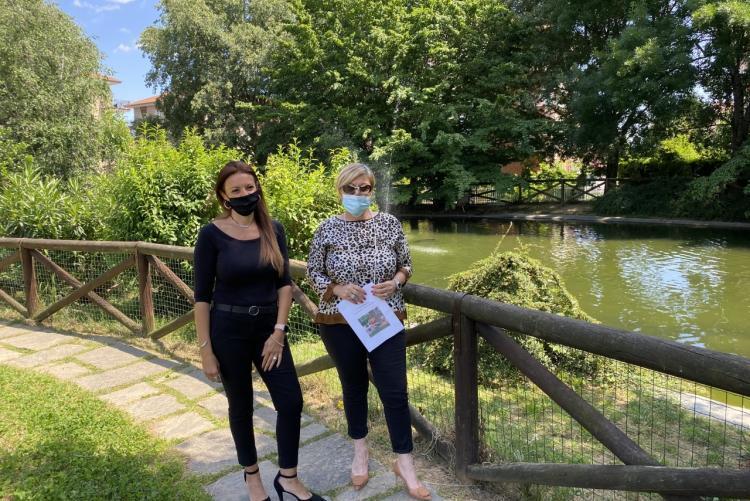 L'assessore Gabriella Bessone e l'istruttrice Claudia Ottella