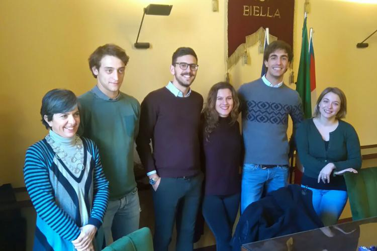 I rappresentanti di BI Young e Consulta studentesca con le assessore Teresa Barresi e Francesca Salivotti