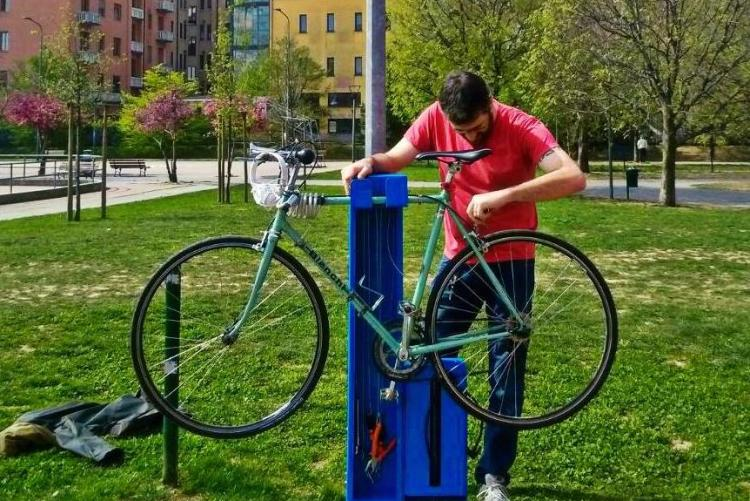 Una stazione bike lab