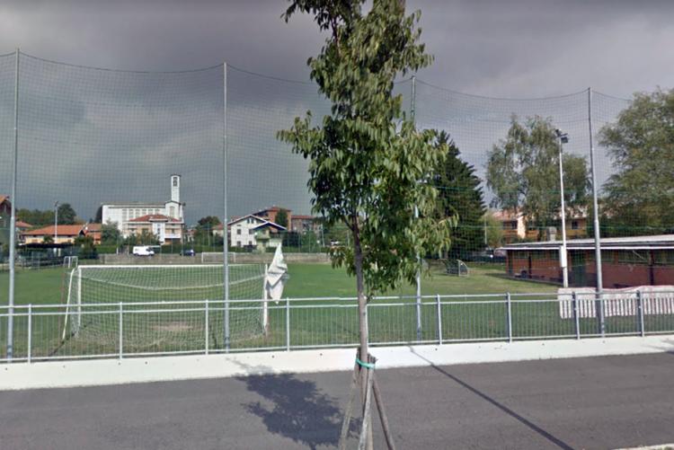 Il campo sportivo di via Gersen (foto Google Street View)