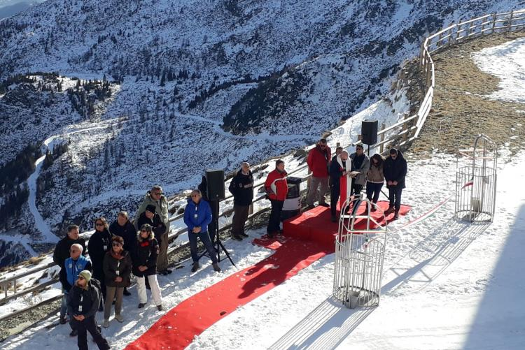 L'inaugurazione della cestovia del Camino