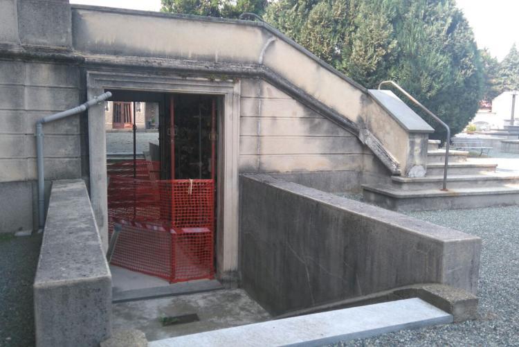 L'area interessata dai lavori al cimitero di Chiavazza