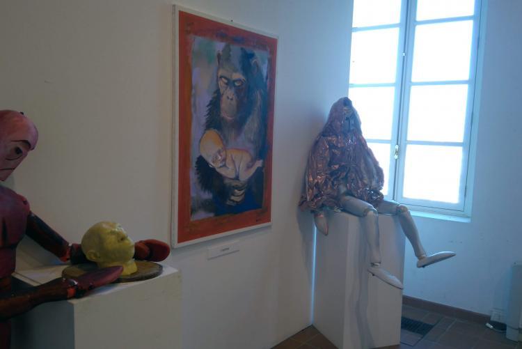 La mostra di Dario Fo a palazzo Ferrero