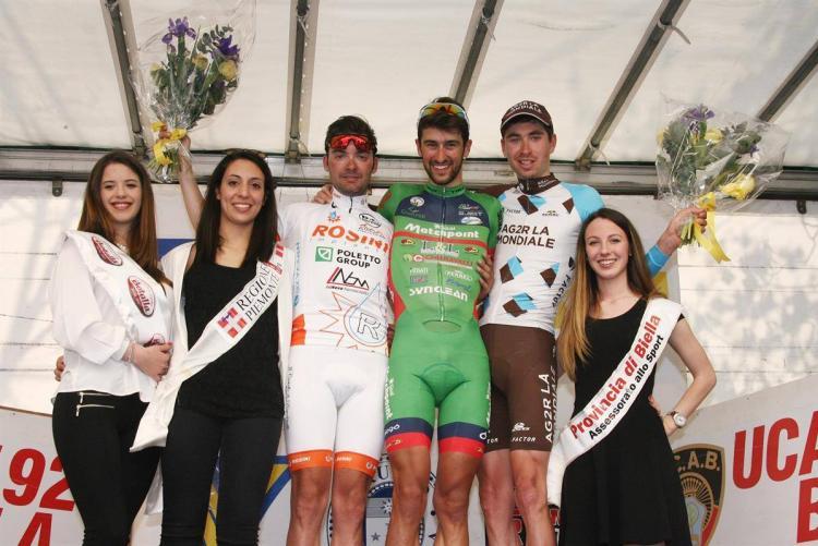 Il podio del 2017 del Giro della Provincia di Biella