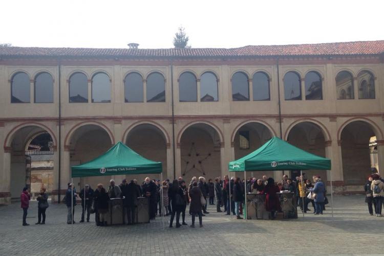 I partecipanti a La penisola del tesoro al chiostro di San Sebastiano