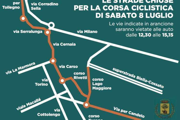 La mappa delle strade chiuse sabato 8 luglio