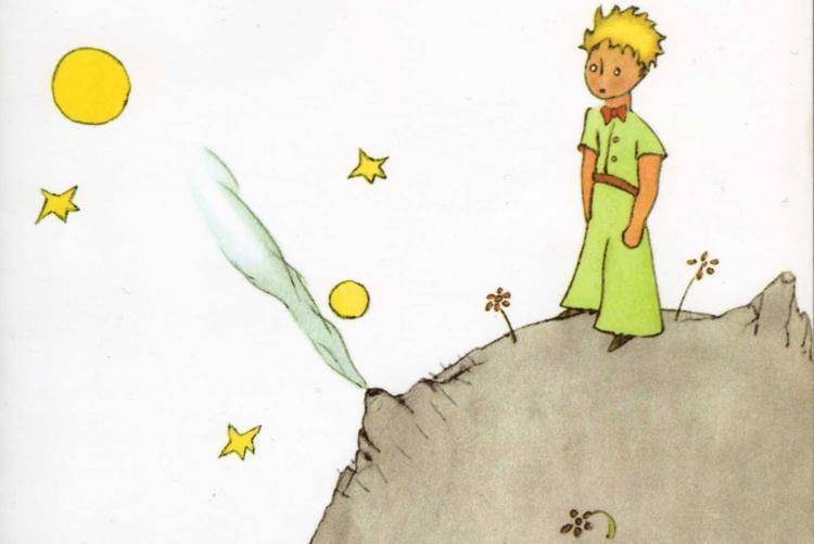Il Piccolo Principe in un disegno dell'autore Antonie de Saint-Exupéry