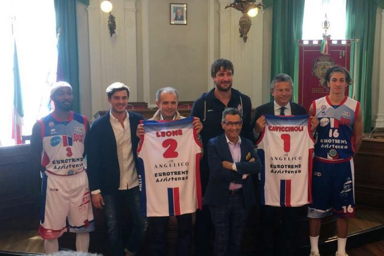 La presentazione delle nuove maglie di Pallacanestro Biella a palazzo Oropa