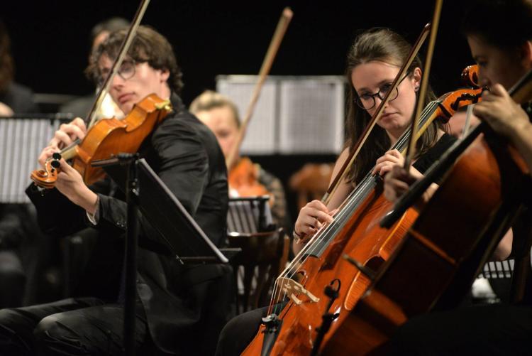 Musicisti dell'orchestra sinfonica dell'istituto Cantelli