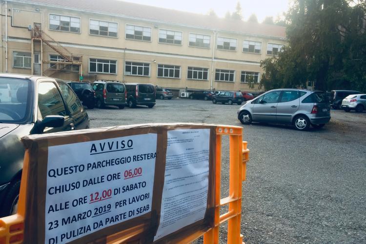 Il parcheggio ex Fila di via Cavour