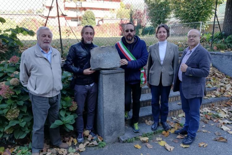 La delegazione del comune di Gaiola con Valeria Varnero e Battista Saiu