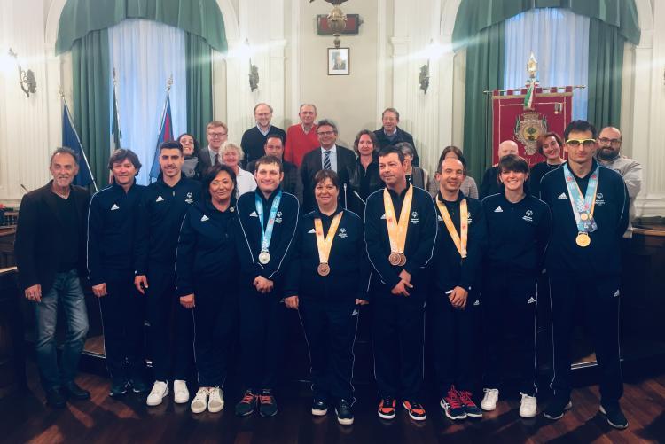I campioni Special Olympics a palazzo Oropa
