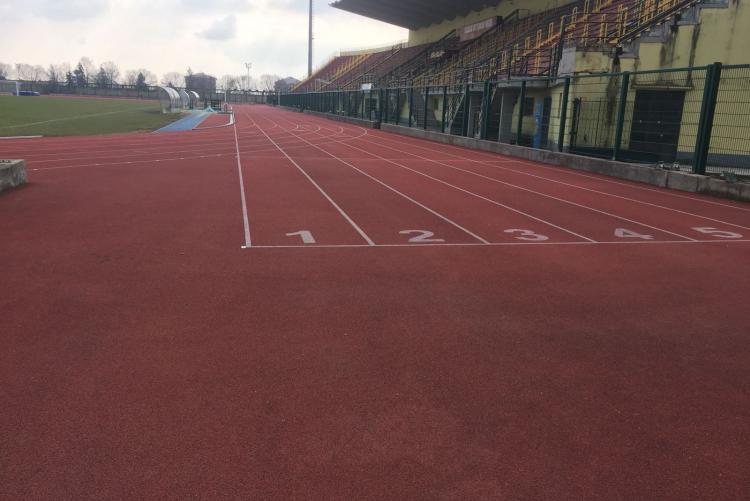 La pista di atletica dello stadio La Marmora-Pozzo