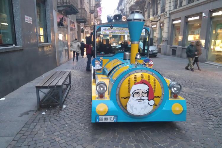 Il trenino del Natale nel cuore di Biella