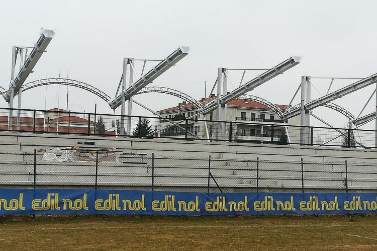 La nuova tribuna dello stadio del rugby