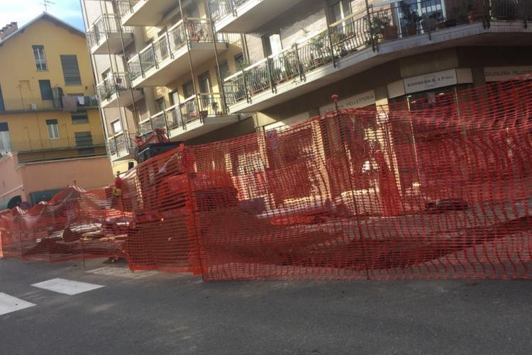 Il cantiere di novembre in via Piave: ora riaprirà