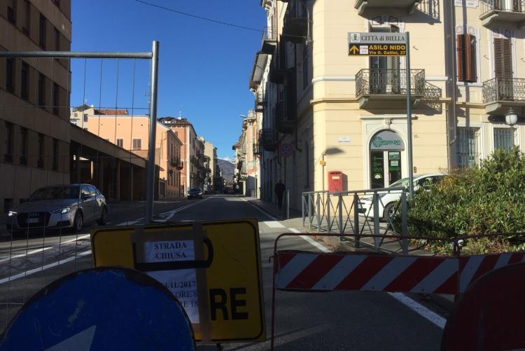 La chiusura in direzione Nord di via Repubblica di martedì 14. Da mercoledì 15 sarà chiusa la carreggiata verso Sud