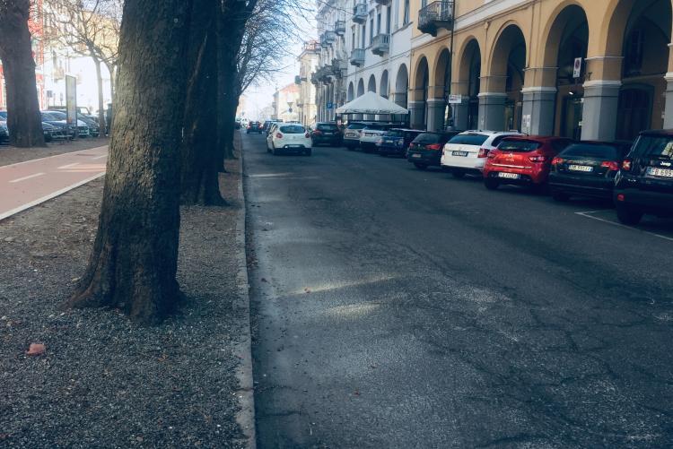 La carreggiata Sud di viale Matteotti