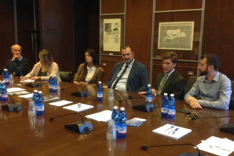 La presentazione di Wooooow: la seconda da sinistra è l'assessore alle politiche giovanili Francesca Salivotti