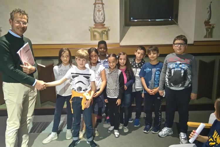 La III A dele elementari di Chiavazza, prima classificata tra le scuole primarie