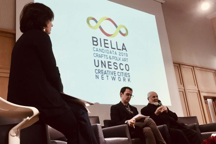 Michelangelo Pistoletto e il logo che ha creato per la candidatura Unesco di Biella