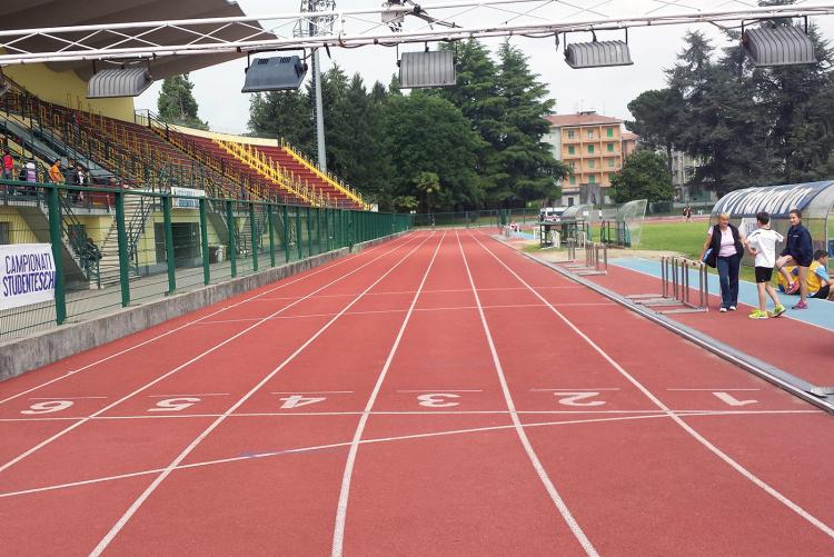La pista d'atletica dello stadio La Marmora-Pozzo (foto: www.fidalbiellavercelli.it)