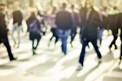 Foto persone in strada