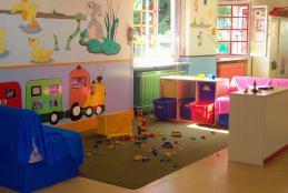 Lo spazio giochi all'asilo nido di Chiavazza