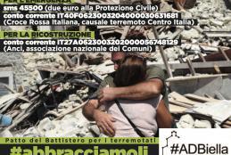 L'appello per i terremotati del Patto del Battistero