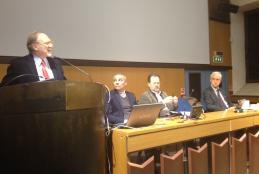I relatori all'incontro sul nuovo Statuto nel marzo 2017