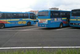 Autobus nel deposito Atap di Biella