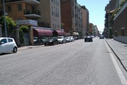 Il tratto di via Torino che sarà riasfaltato