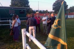 Consiglieri comunali e dirigenti del Biella Rugby al centro sportivo