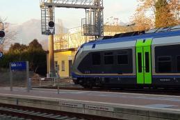 Un treno a Biella San Paolo