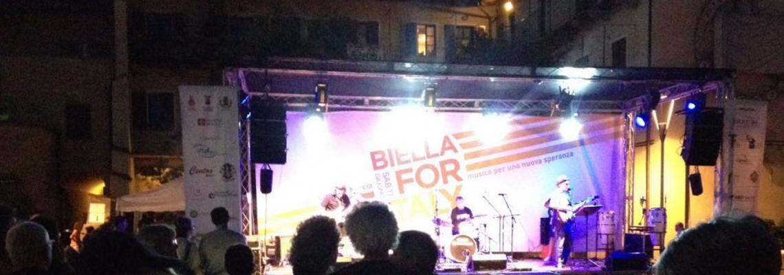 Biella for Italy 2017 in piazza del Monte