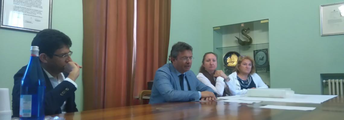 La conferenza stampa che presenta l'incontro Biella progetta