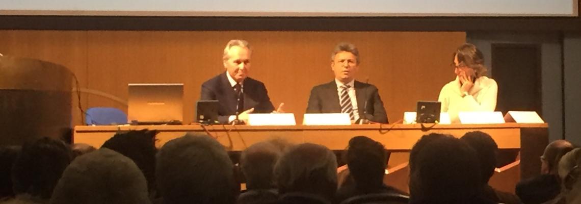 Il sindaco Marco Cavicchioli, il presidente della Fondazione Crb Franco Ferraris e l'assessore Valeria Varnero alla presentazione del progetto Unesco