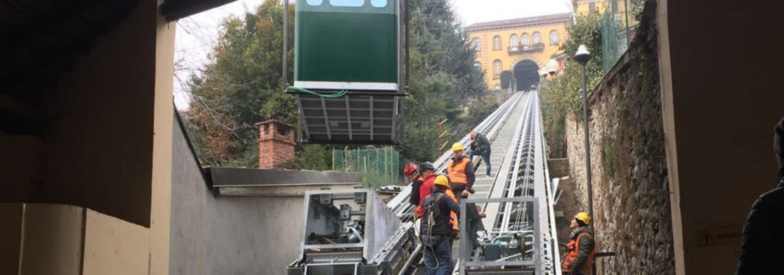 Il cantiere della nuova funicolare: l'opera sarà finanziata all'80% da fondi europei