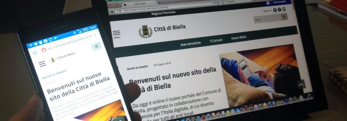 La città di Biella sul web