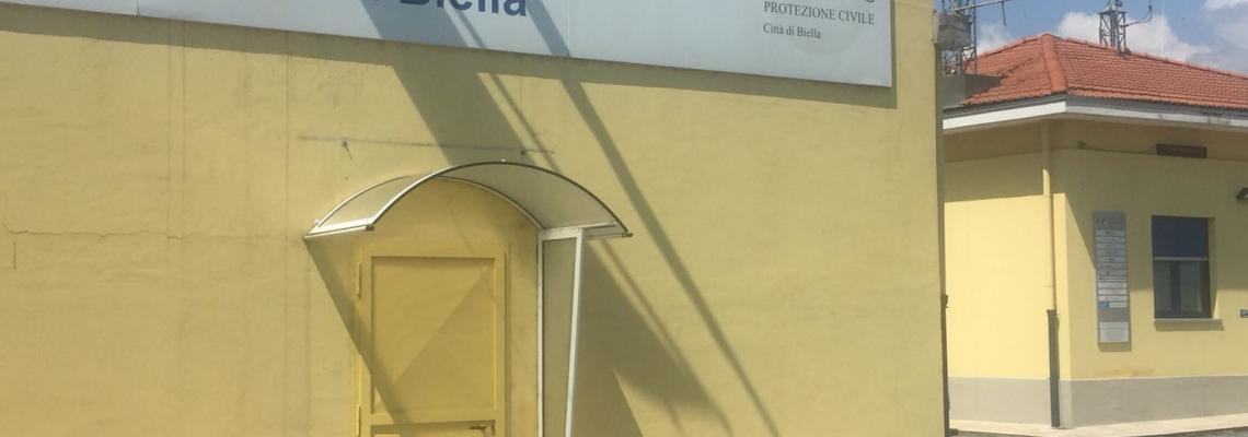 La sede di corso Rivetti della protezione civile di Biella