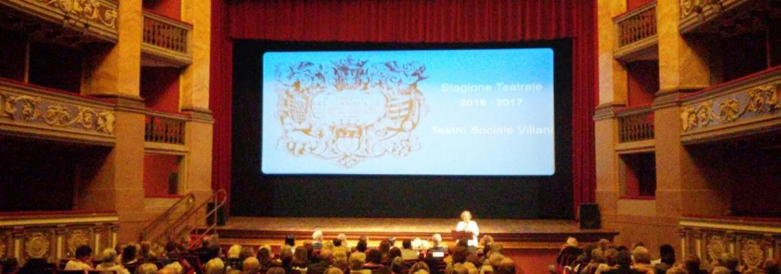 Il teatro Sociale Villani alla presentazione di una stagione teatrale