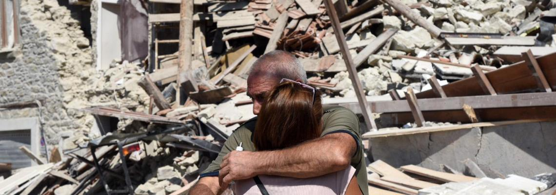 Immagini dal terremoto ad Amatrice
